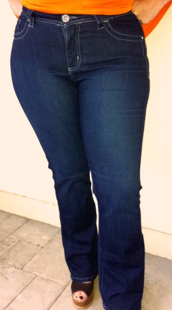 4ec19ca3e48 I am wearing the Nina Curvy Bootcut in the picture above. The Lee Curvy Fit  Jeans have more stretch in their denim which allows them to comfortably hug  and ...