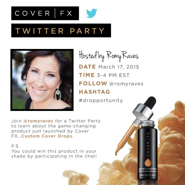 Cover FX Twitter Party Invite