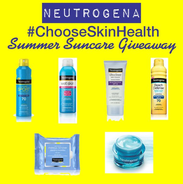 Neutrogena #ChooseSkinHealth Summer Suncare Giveaway (3 Winners)