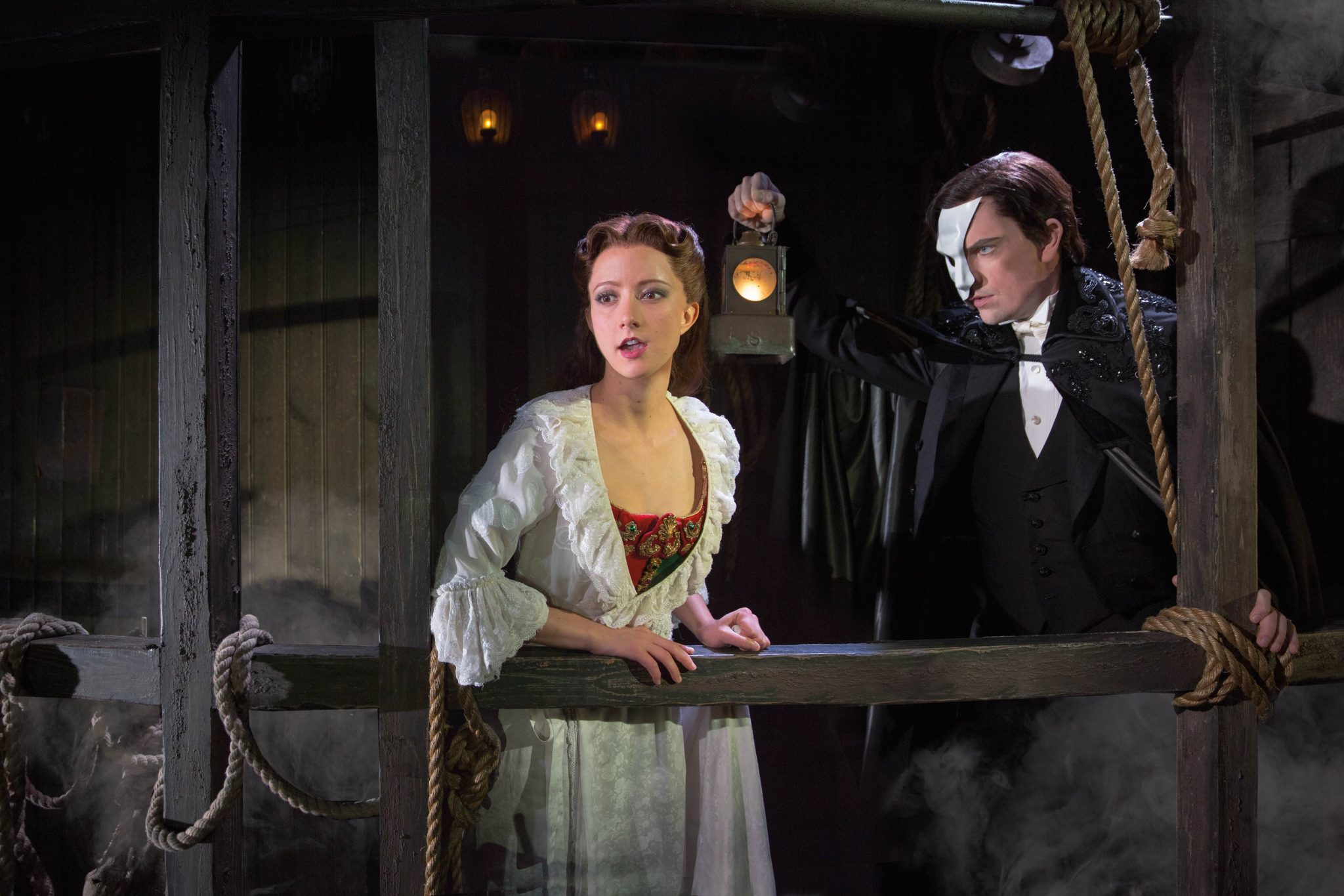 THE PHANTOM OF THE OPERA 1 - Katie Travis and Chris Mann - photo by Matthew Murphy