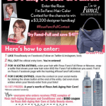 Reminder: Enter #RouxFanciFullContest to Win a Designer Handbag Worth Thousands!