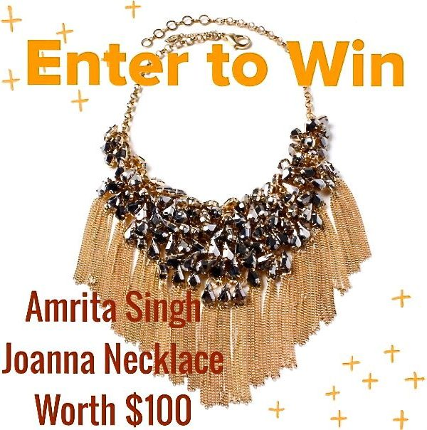 Fall Fashion GIVEAWAY: Win A Chic & Stylish Statement Necklace from Amrita Singh