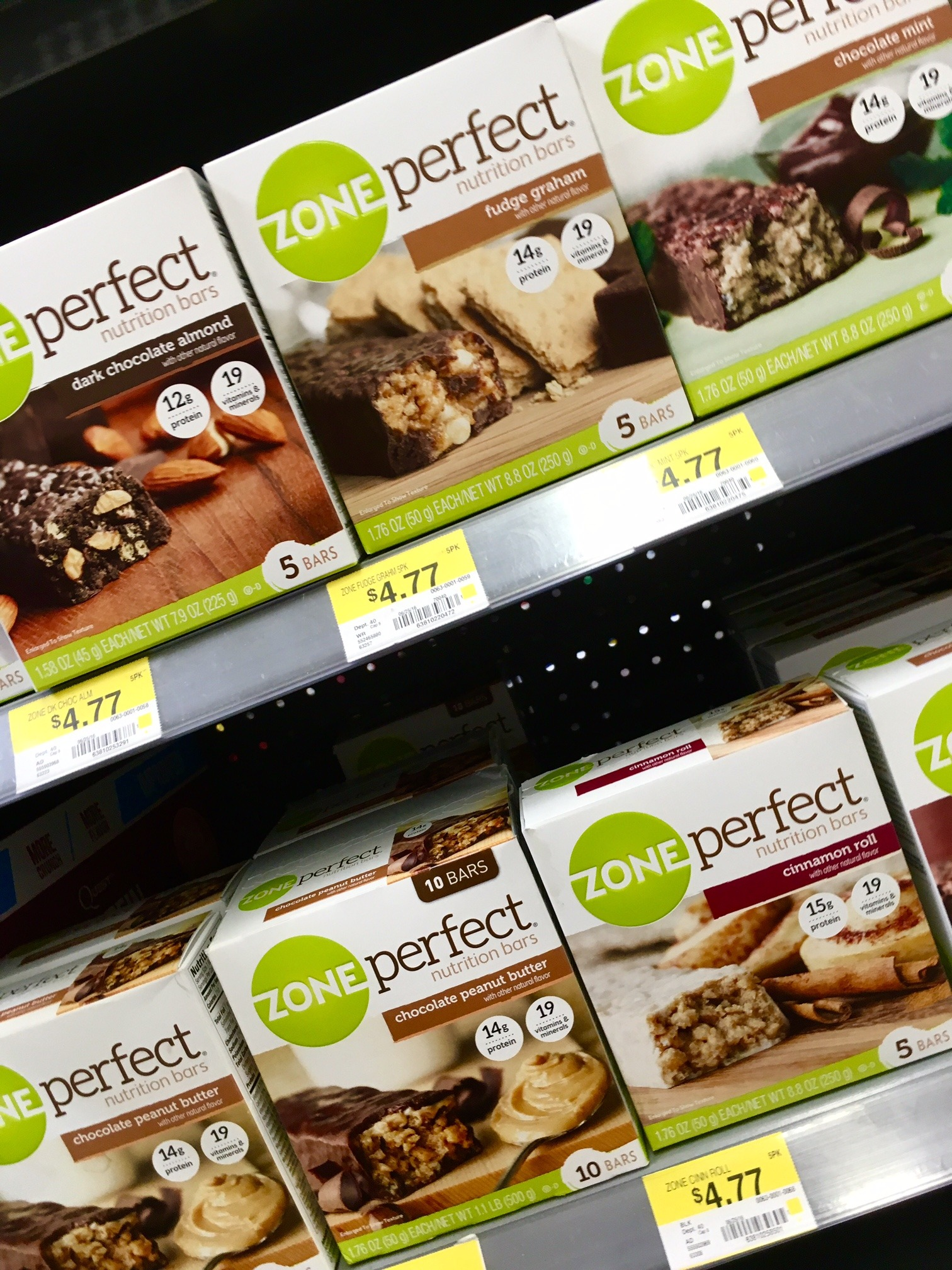 Walmart, ZonePerfect, nutrition bars