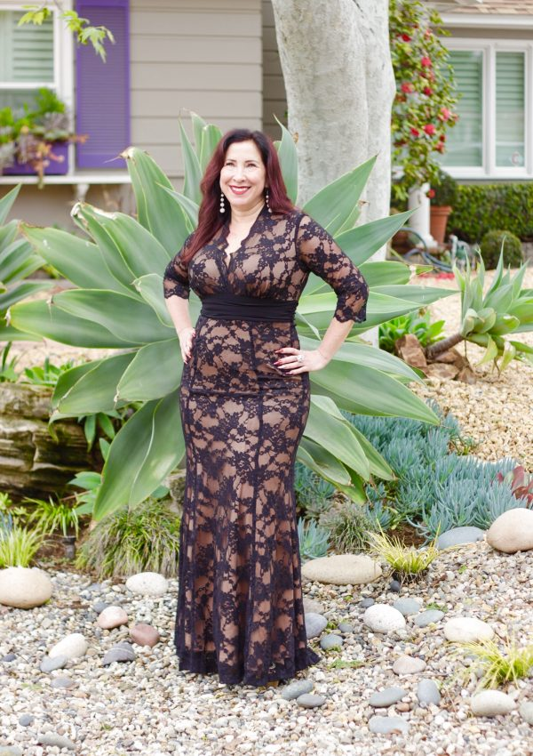 Channel Old Hollywood Glamour with Kiyonna's Screen Siren Lace Gown