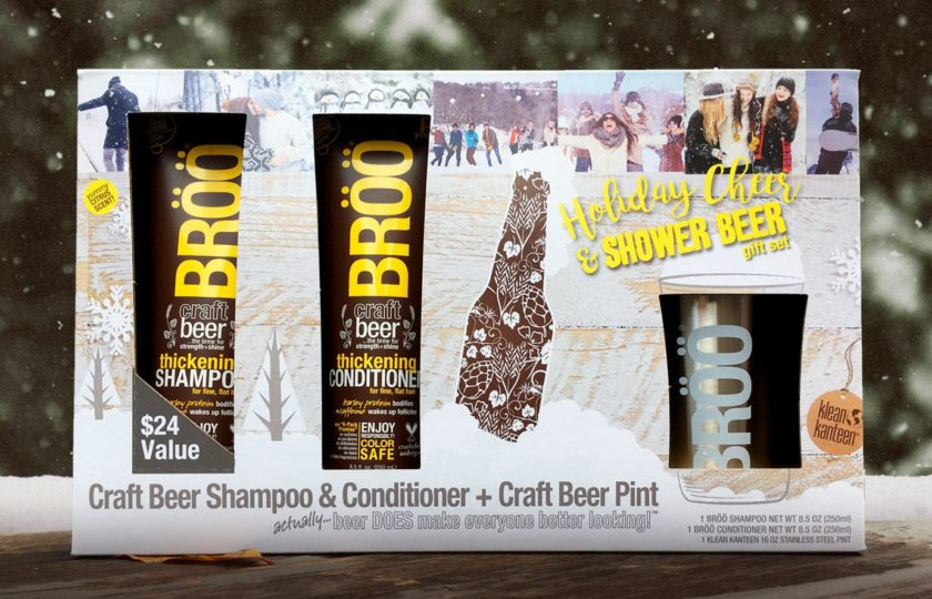 Are you looking for inspired gift ideas for the men, beer lovers & beauty junkies in your life? BRÖÖ Holiday Cheer & Shower Beer Gift Set is going to make everybody happy