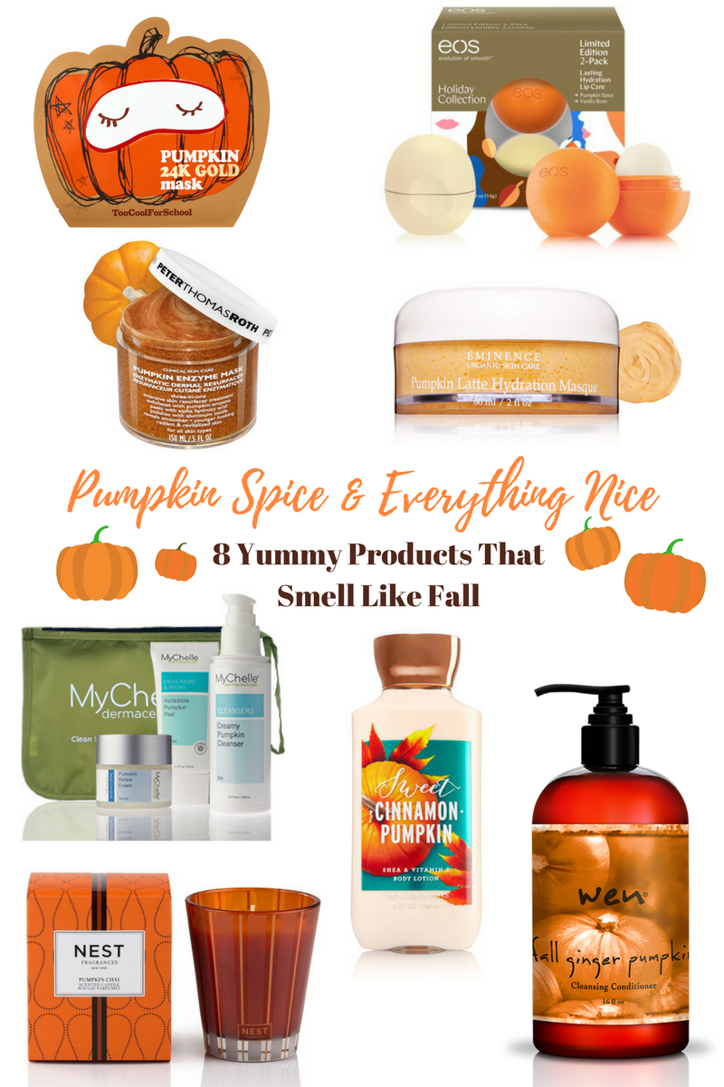 Every Fall, I'm obsessed with all things pumpkin! Pumpkin pie, pumpkin bread, pumpkin lattes and pumpkin scented beauty products.These 8 are my favorites this season!