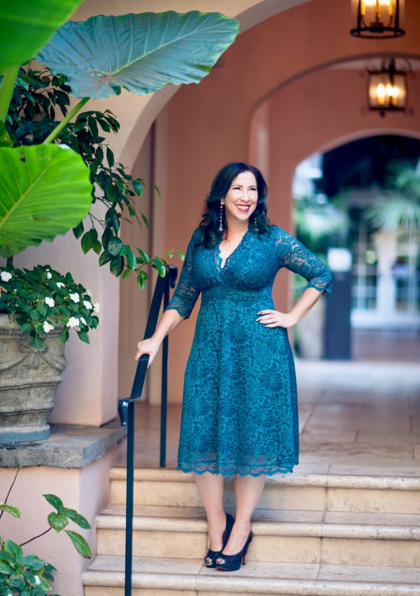 Kiyonna's Mademoiselle Lace Dress is the perfect dress to wear during festive holiday and party going season! It's super flattering, comfortable & feminine