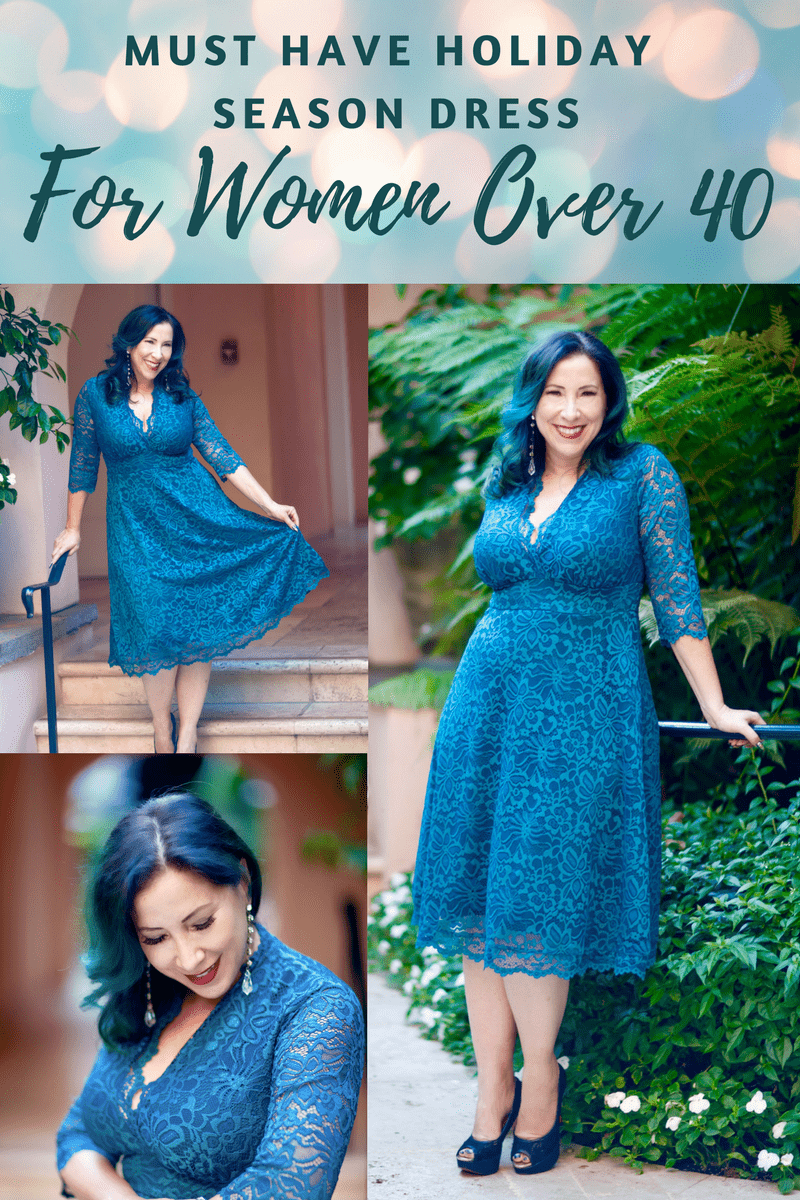 Kiyonna's Mademoiselle Lace Dress is the perfect dress to wear during the festive holiday and party going season! It's super flattering, comfortable & feminine