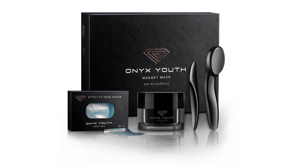 I'm obsessed with the Onyx Youth Magnet Mask from Korea. It's a volcanic ash & botanical oil infused mask that uses a magnet to pull out impurities and rejuvenate your skin