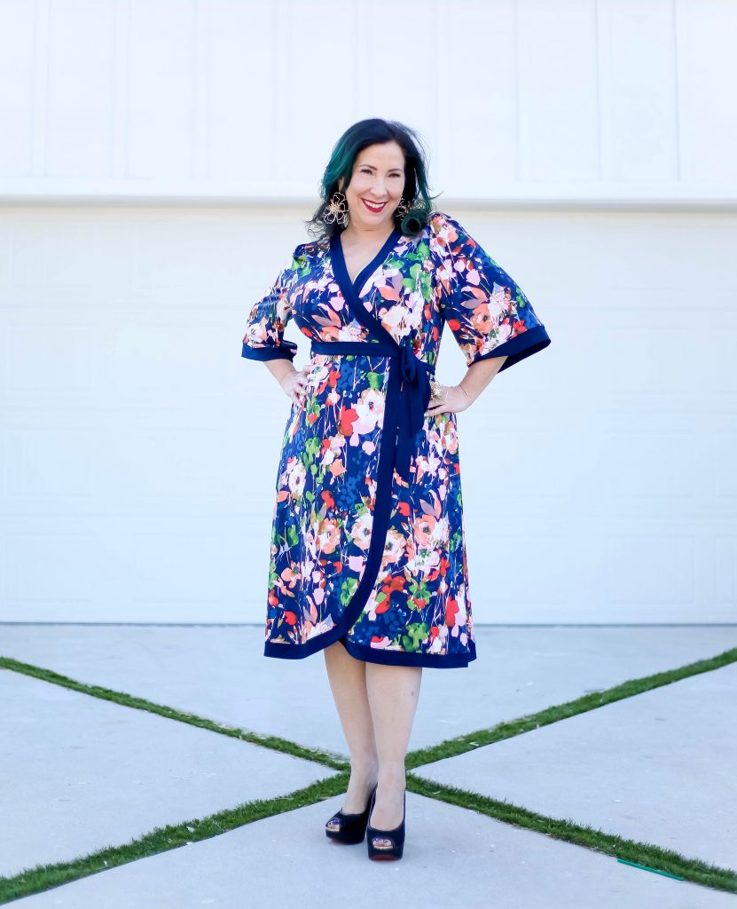 Just in time for Mother's Day, I'm sharing the perfect stylish feminine, flattering and floral Kiyonna Weekend Wrap Dress