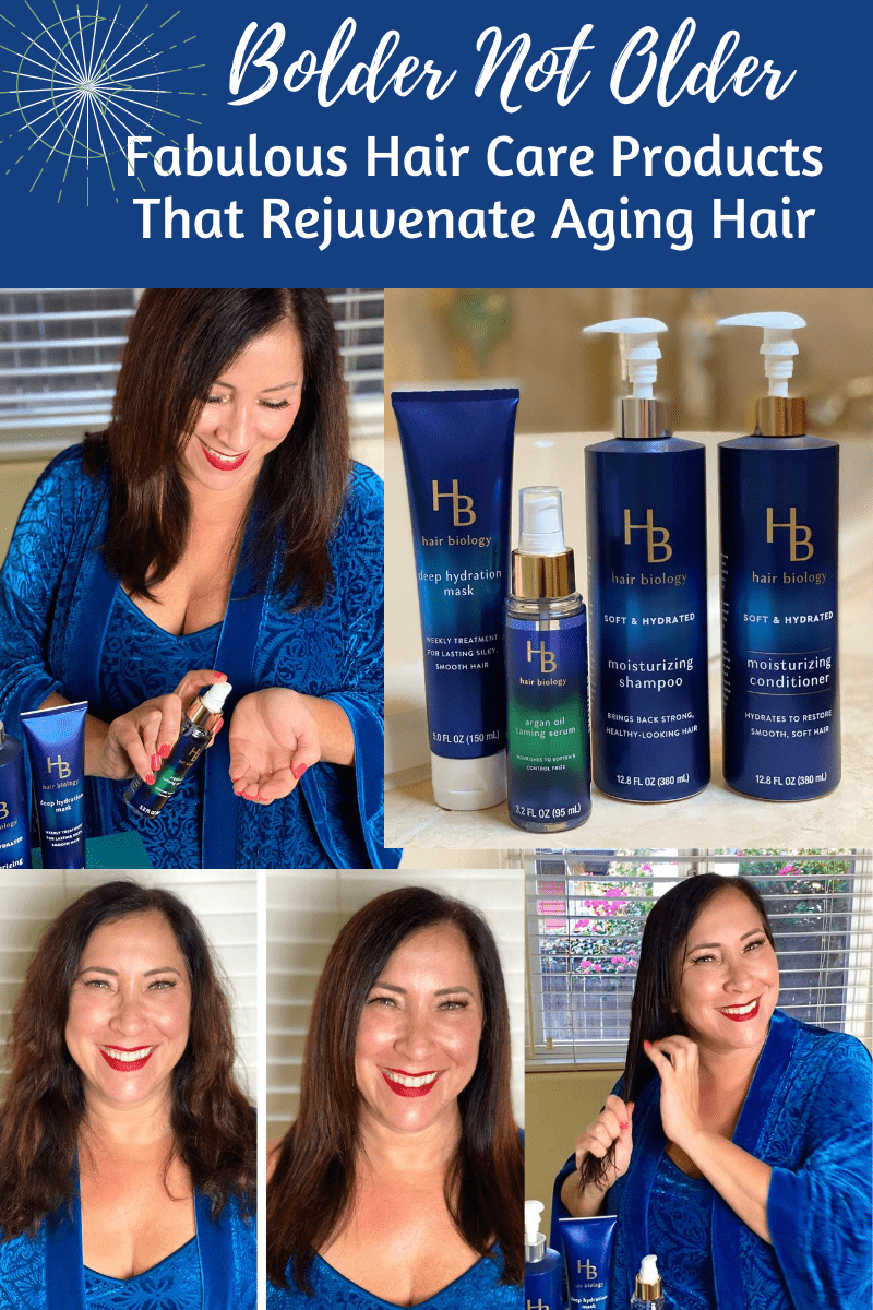 This post is sponsored by Hair Biology, a line of hair care products formulated for women 45+ to rejuvenate dry, thinning and aging hair