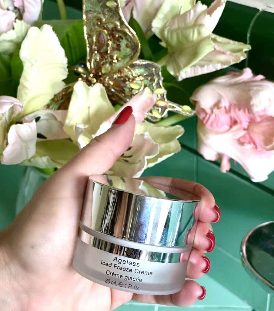 I'm excited to share my latest RAVE-worthy discovery, Prai Beauty Ageless Iced Freeze Creme reduces the look of fine lines & wrinkles