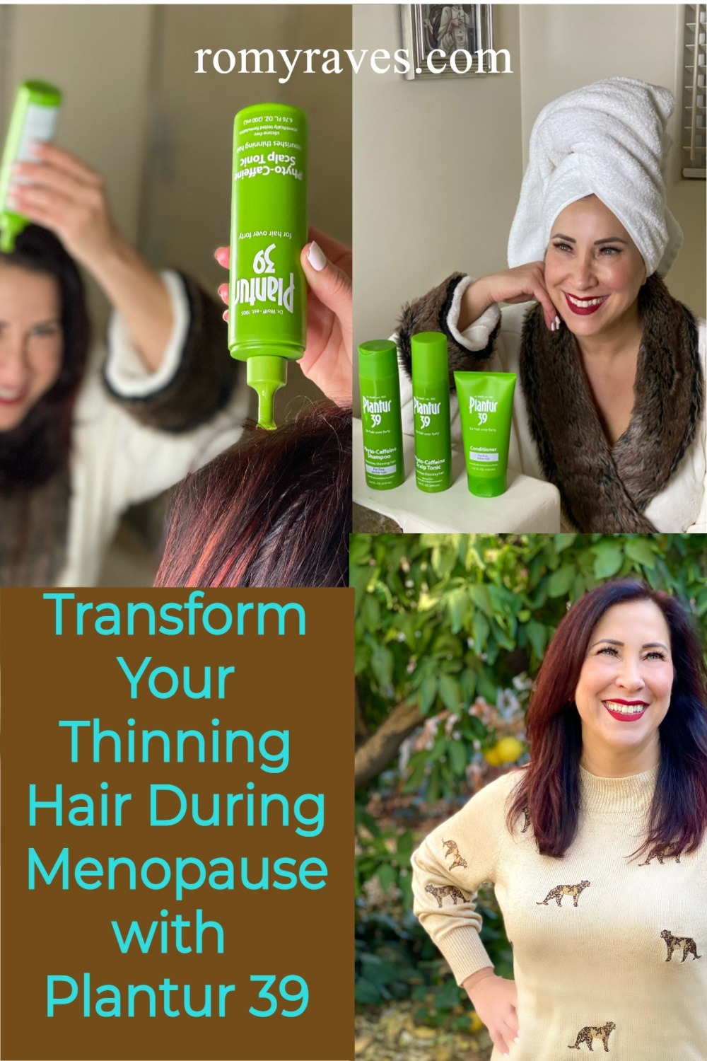 I'm excited to share Plantur 39 ~ innovative hair care products made with a caffeine complex that transforms thinning hair during menopause